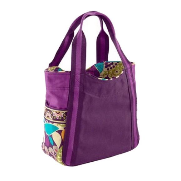 Vera Bradley Handbags - Vera Bradley Plum Crazy Canvas Tote